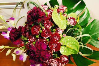 お誕生日のバラの花束 001